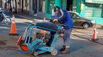 por obras, hay desvios de transito en calle espana