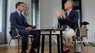 Con Majul. En la entrevista Macri hizo duras referencias a su padre.