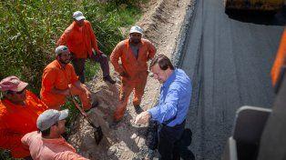 Mejoras. Varisco supervisó los trabajos que se realizan en la zona suroeste de Paraná.