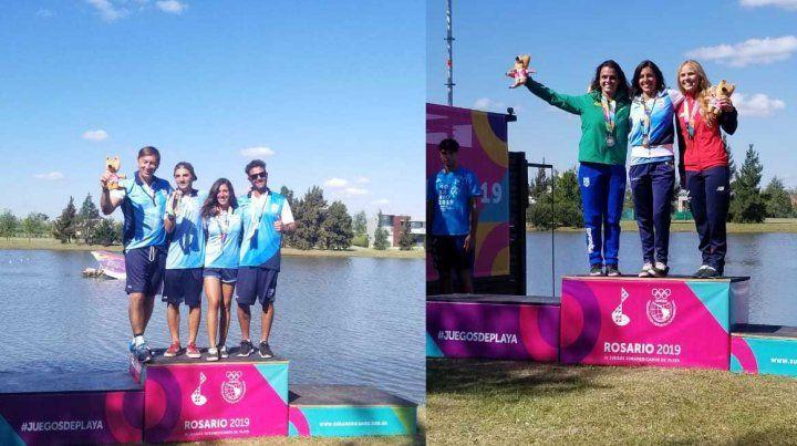 El equipo argentino de wakeboard sumó dos medallas doradas.