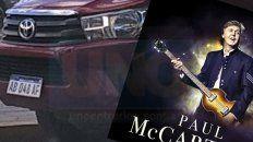 denuncian que habrian usado un vehiculo del estado para ir a ver a paul mc cartney