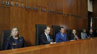 lineamientos. Bordet y Castrillón en primera fila. El presidente del STJ brindó su habitual discurso de apertura.