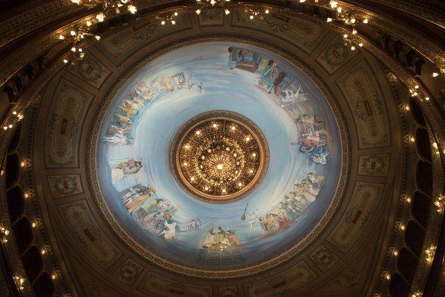 La cúpula del teatro Colón.