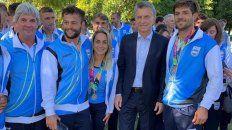 Juliette y Pancho formaron parte de la comitiva que fue recibida por el presidente Macri.