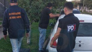 Preso. En Santa Fe fue detenido uno de los acusados de integrar la banda.