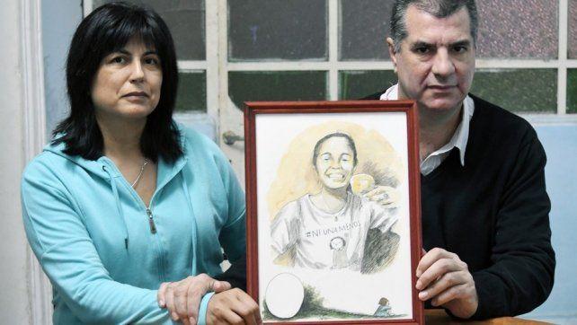 Lucha. Los padres de Micaela García son un eje central en las actividades organizadas contra la violencia.