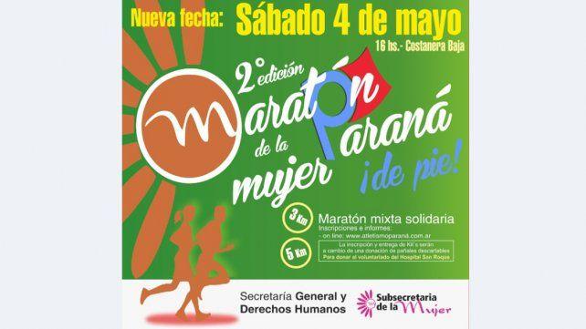 Nueva fecha para el Maratón de la Mujer