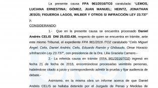 Se unificaron las causas de Celis con la de la Municipalidad de Paraná