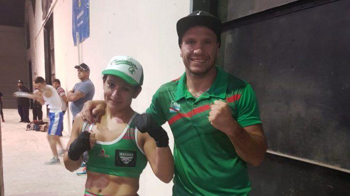 Cinthia González junto a Wenceslao Mansilla