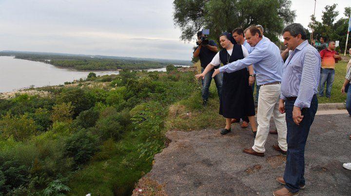 La provincia se hará cargo de la obra de estabilización de barrancas en Diamante