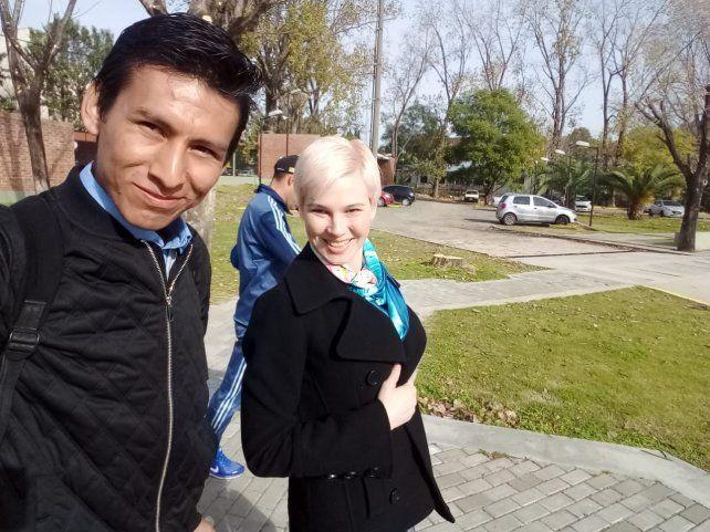El miércoles Pedro Rey Puma junto a Sasha Ivanova en Córdoba.