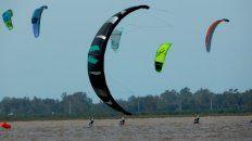 kite foil: lograron completar seis regatas en todas las categorias