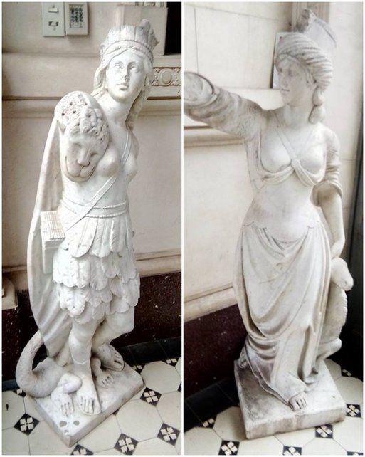 Patrimonio. Ambas esculturas estaban en Victoria desde el siglo XIX.