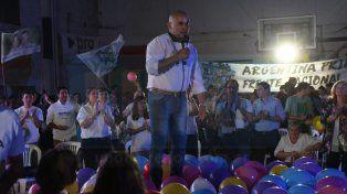 Gainza cerró la campaña en San Agustín