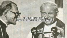 a 32 anos de la visita del papa juan pablo ii a parana