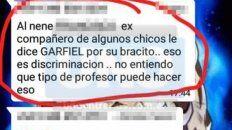 separaron al docente acusado de golpear y poner sobrenombres a los alumnos