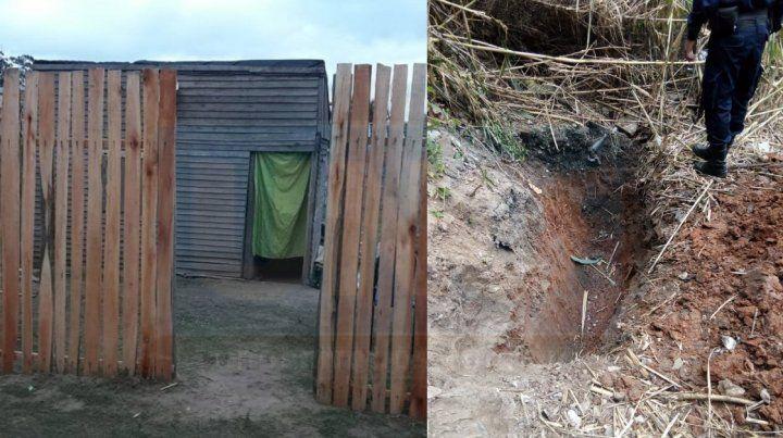 Detuvieron a un hombre que había secuestrado a una nena y había cavado un pozo en un descampado