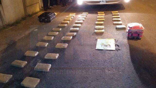 Concordia: Incautaron 44 kilogramos de marihuana en un micro de larga distancia