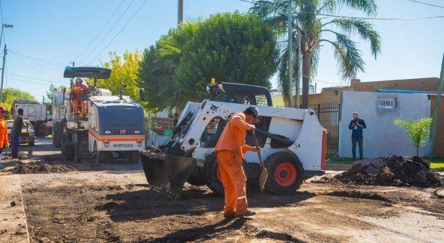 En los barrios se desarrolla a paso firme el plan de recuperación vial