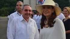 La expresidenta en el viaje anterior a Cuba.