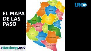 El mapa de las PASO