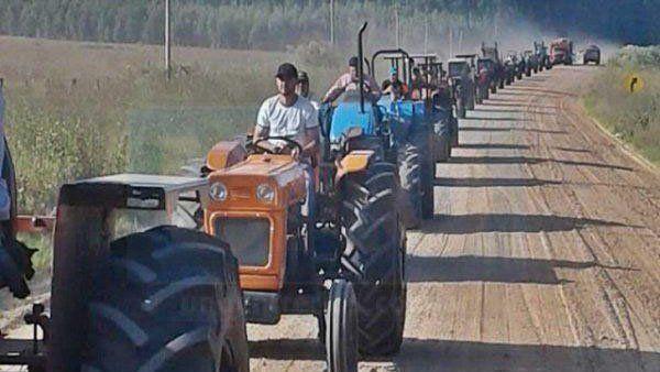 Tractorazo. Ayer hubo una nueva movilización en Chajarí.