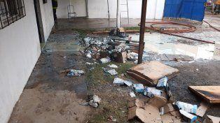 Se incendió una parte de Acción Social de la Municipalidad de Paraná