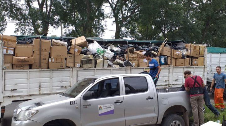 Traslado récord a Buenos Aires de residuos electrónicos