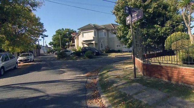 El barrio en que ocurrió el asesinato.