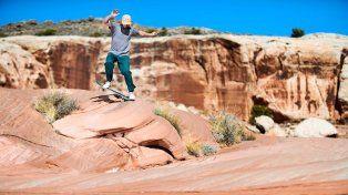 La experiencia de andar en skate en un lugar tan remoto como el desierto