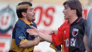 El día que Huevo se le plantó a Maradona en La Bombonera