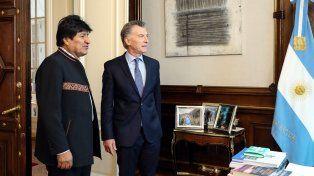 Acercamiento. Pese a sus fuertes diferencias ideológicas, Morales y Macri avanzaron en acuerdos bilaterales.