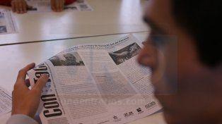 UNO visitó la escuela Hellen Heller, en Paraná. Los alumnos leyeron Con Tacto e intercambiaron opiniones sobre el periódico y sus contenidos