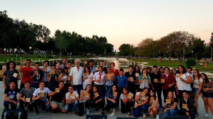 Masivo. Los artistas seleccionados en la edición 2018 coronaron el encuentro con un recital en Crespo.
