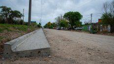 avanza la pavimentacion de calle miguel david