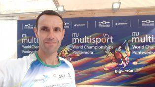 Ganador. El triatleta entrerriano de 46 años sigue sumando logros a su extensa carrera y ahora quiere dar otro paso más a nivel internacional. ¿Podrá?