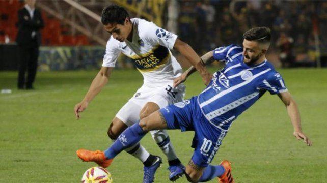 Boca logró una victoria sobre el final en Mendoza