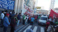 la multisectorial marcho este martes en contra de los ajustes del gobierno nacional