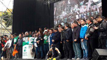 gremios cargaron contra el gobierno y llamaron a la unidad de la oposicion