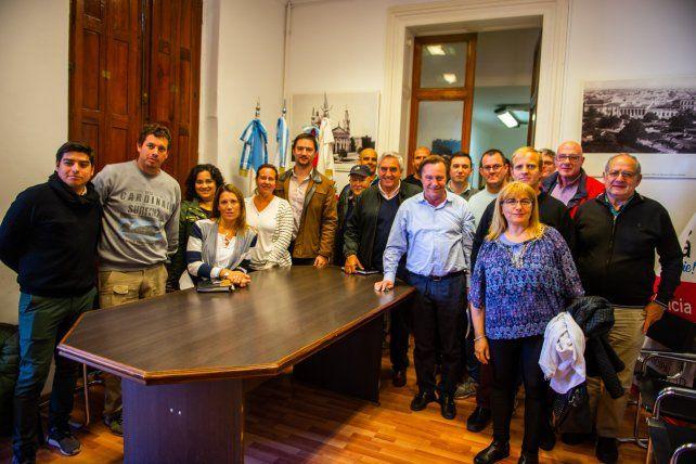 Por la remodelación en la peatonal, Varisco se reunió con comerciantes
