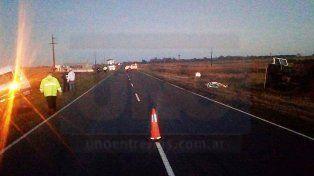 Tres vehículos involucrados en un accidente en ruta 12