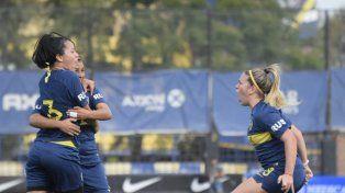 El festejo de las chicas de Boca Juniors.