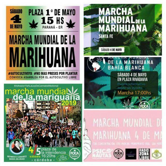 Mirá el mapa de las marchas por la legalización de la marihuana en Argentina