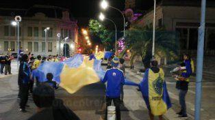 Hinchas Xeneizes festejaron en Paraná