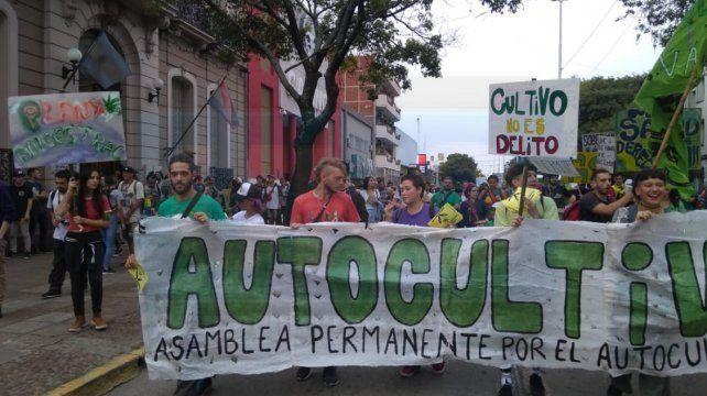 Concretaron la Marcha Mundial por la Marihuana con una alegría contundente