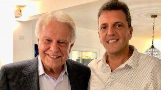 Massa con Felipe González: Argentina necesita políticas de Estado, no marketing electoral