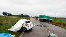 un joven de 18 anos murio en la ruta 131 al chocar de frente contra un camion