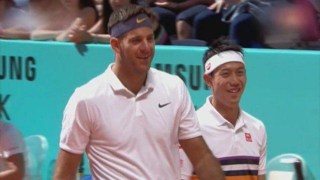 Del Potro volvió con victoria en el dobles junto a Nishikori