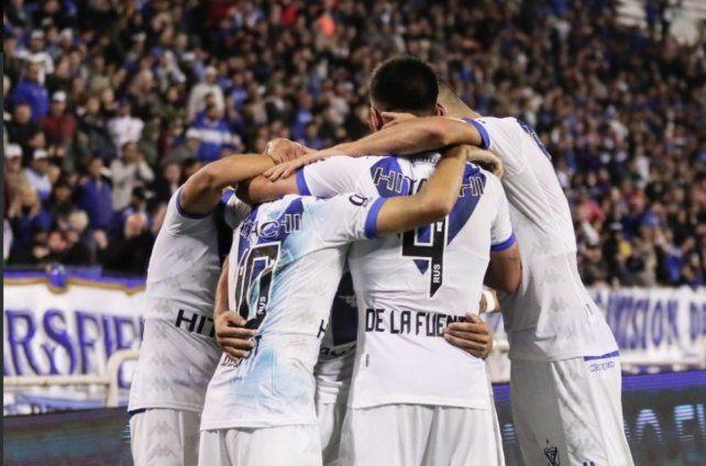 El festejo del segundo gol del equipo de Heinze.