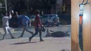Discusión de tránsito terminó en amenazas con un machete y un video viral